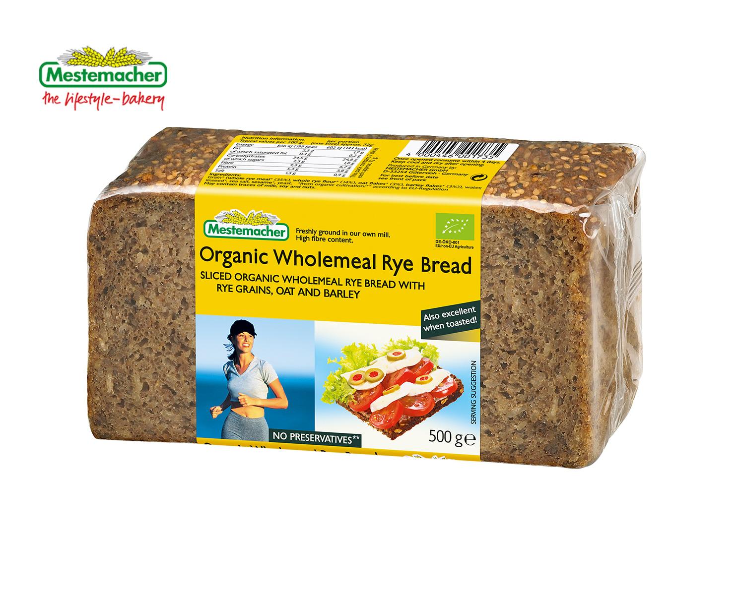 Organic Wholemeal Rye Bread