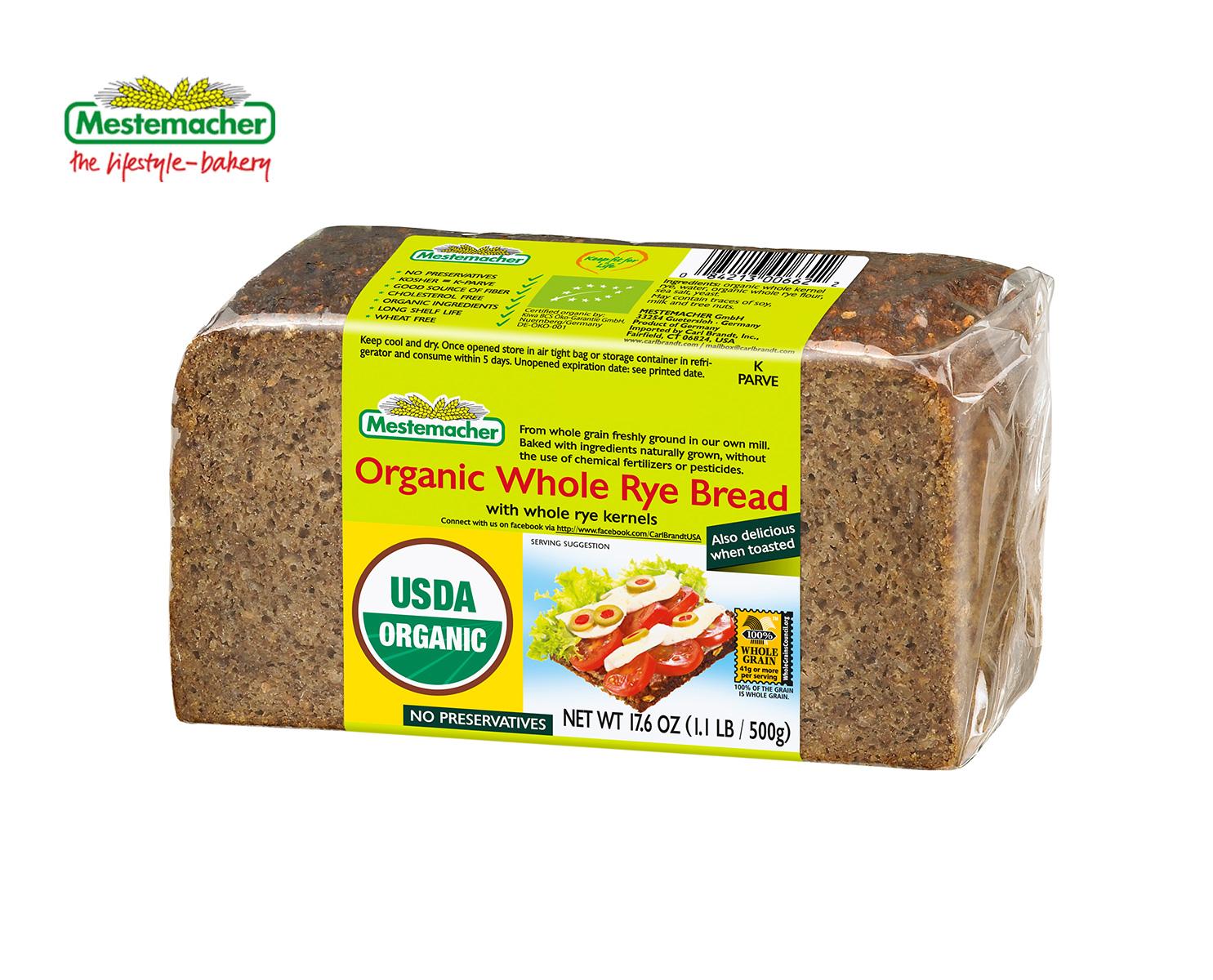 Organic Whole Rye Bread – Mestemacher