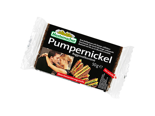 Portionspackung-Pumpernickel
