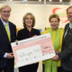 Coming together to fight hunger: 10,000 euros for Welthungerhilfe. (From the left) Albert Detmers, managing partner in the Mestemacher Group; Bärbel Dieckmann, president of Welthungerhilfe; Prof Dr Ulrike Detmers, member of the management board and partner in the Mestemacher Group; Fritz Detmers, managing partner in the Mestemacher Group. Photo: Bischof + Broel